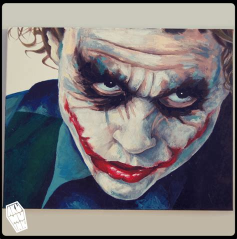acrylic painting of joker joker 4 painting completed