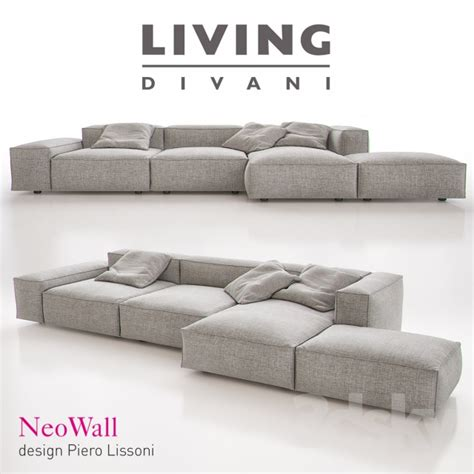 living divani wall 3d models sofa living divani neowall sofa composition i