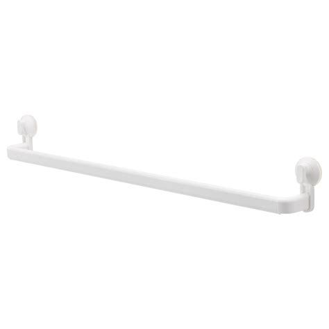white towel hooks for bathrooms stugvik towel rack with suction cup white ikea