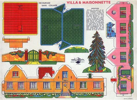 Papier De Maison by Villa Et Maisonnette D 233 Coupage Sans Collage