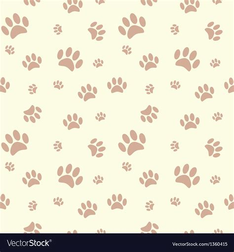 paw background background with paw print and bone royalty free vector