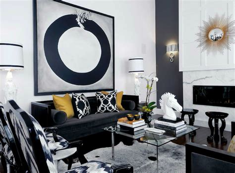 black white and gold home decor black velvet sofa contemporary living room