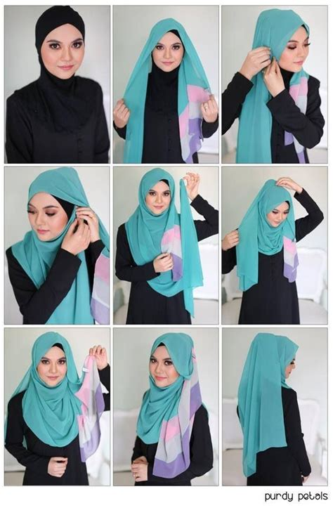 tutorial hijab simple selendang easy breezy beautiful hijab tutorial hijab tutorial