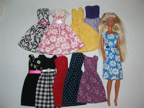Handmade Cloths - handmade doll clothes lot of 10 dresses and