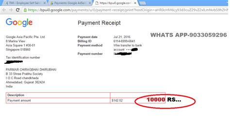 adsense payment date india google adsense payment proof india