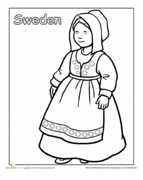 multicultural coloring sweden worksheet education com