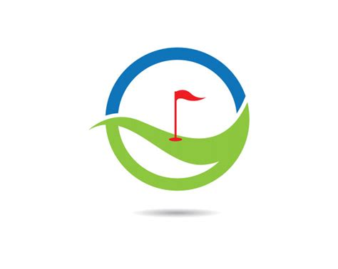 gulf logo vector golf logo template vector premium
