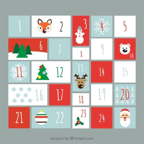 design advent calendar lovely advent calendar in flat design vector free download
