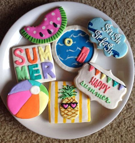decorated cookies recipe 271 best images about summer designs decorated cookies and