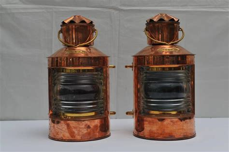 brass navigation lights for sale pair of nautical copper port and starboard navigation
