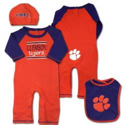 clemson colors clemson team colors coverall set
