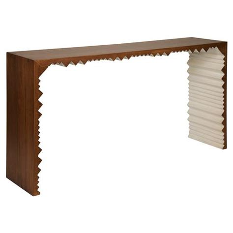 Zig Zag Console Table Pillan Rustic Lodge Walnut White Zig Zag Console Table Kathy Kuo Home