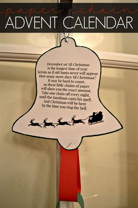 paper chain advent calendar