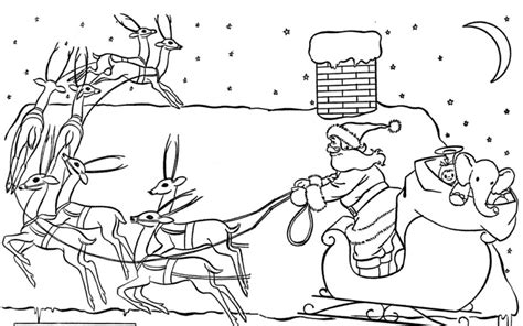free coloring pages of santa s sleigh santa in sleigh coloring pages download and print for free
