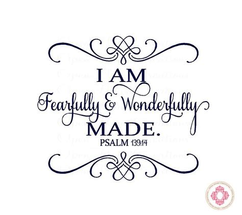 baby nursery wall decal i am fearfully and wonderfully made