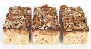 recipe caramel turtle rice krispies treats glorious treats