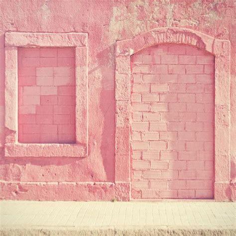 pink brick wall pastel pink feature wall pink rosa fuchsia pinterest
