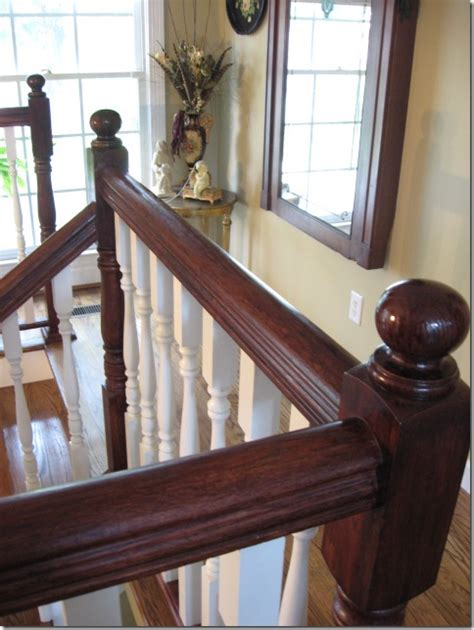 Staining Stair Banister by Staining An Oak Banister Southern Hospitality