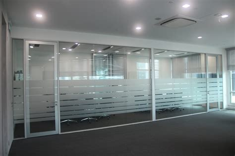 frosting for glass doors office renovation contractor office interior designers