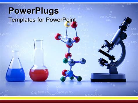 general chemistry powerpoint ppt templates ppt background powerpoint template lab equipment with vials with blue