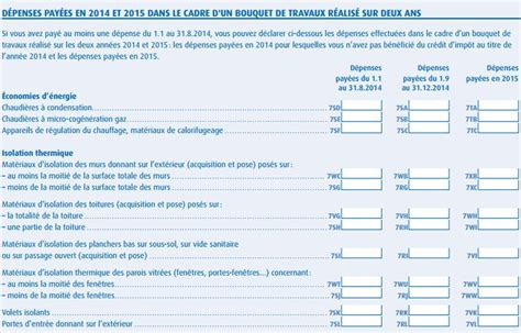Formulaire Credit D Impot 2015 Cr 233 Dit D Imp 244 T Remplir Sa D 233 Claration Sur Les Revenus 2015