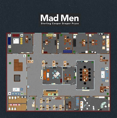 mad men floor plan floor plans famous tv and movie businesses bizdaq