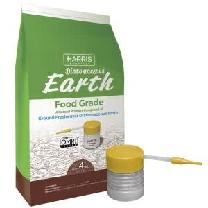 harris 64 oz 4 lb diatomaceous earth food grade 100