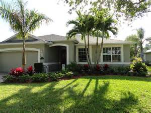 florida curb appeal low maintenance tropical landscaping in vero