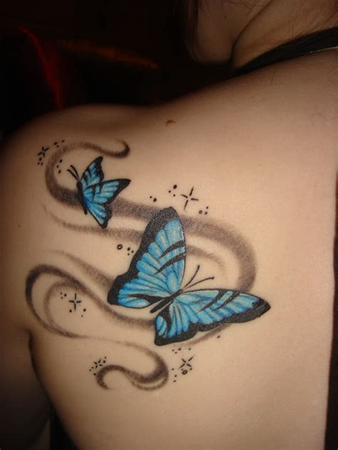small blue butterfly tattoo tattoos on butterfly tattoos butterflies and