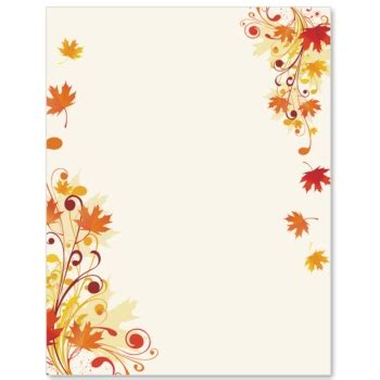 Fall Border Scrolling Maple Border Papers Paperdirect Cliparts Clipartpost Fall Border Templates