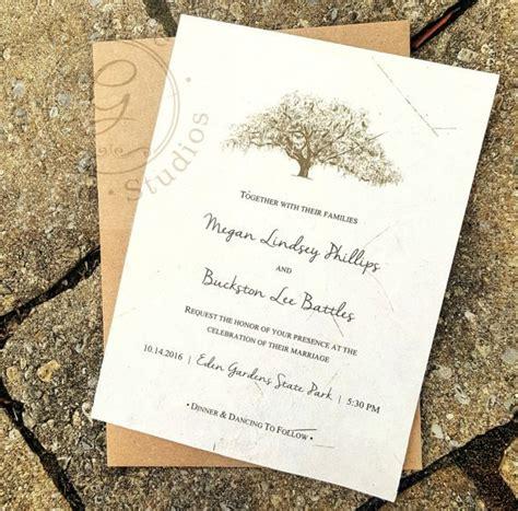Oak Tree Wedding Invitations Oak Tree Wedding Invitation Templates