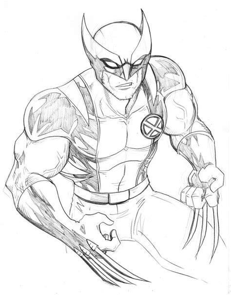 Imagenes Para Colorear Wolverine | dibujos de lobezno para pintar dibujos de lobezno para