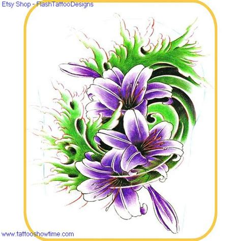 flower tattoo etsy flower tattoo flash design 8 for you on etsy top quality