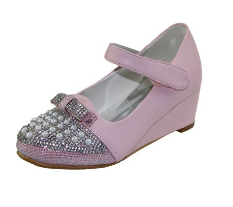 fancy shoes kollache wedge heel wedding fancy bow diamante