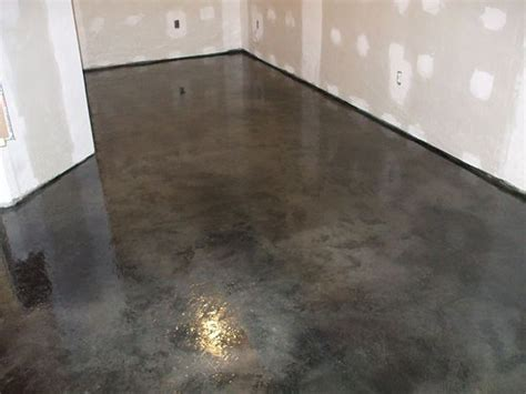 How To Stain Cement Floors by How To Acid Stain Concrete