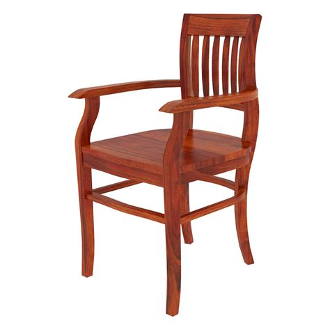 solid wood dining room chairs siena rustic solid wood arm dining chair