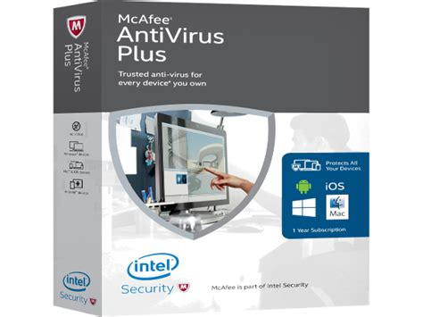 Anti Virus Hp mcafee antivirus 2016 plus box pack unlimited device hp 174 official store