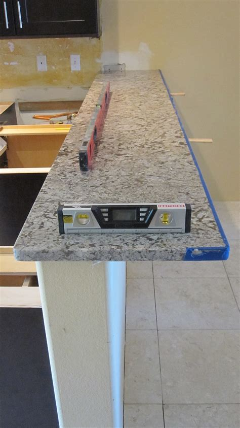 support for granite bar top granite overhang limits for your kitchen countertops