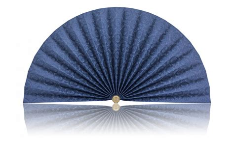 decorative pleated window fans royal blue with filigree pleated decorative fans