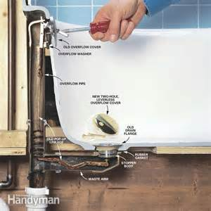 Slow Bathtub Drain How To Convert Bathtub Drain Lever To A Lift And Turn