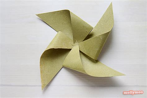 Pinwheel Paper Craft - mollymoocrafts paper flower pinwheel craft for