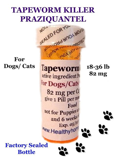 tapeworm killer dewormer praziquantel for dogs cats 6mo 18