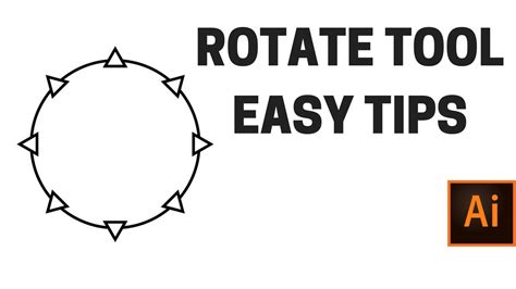 illustrator tutorial rotate duplicate rotate tool in adobe illustrator rotate and duplicate
