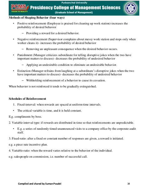 Mba 1st Sem Organisational Behaviour Notes by Mba 1s Sem Organisational Behaviour Notes
