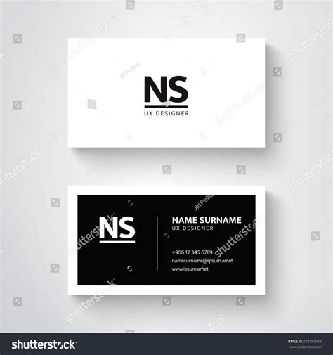 simple business card website template vector simple business card template clean stock vector