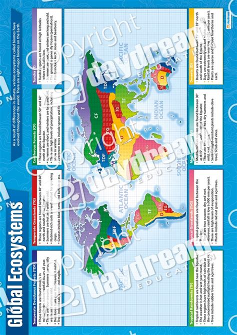 global ecosystems poster geography daydream education