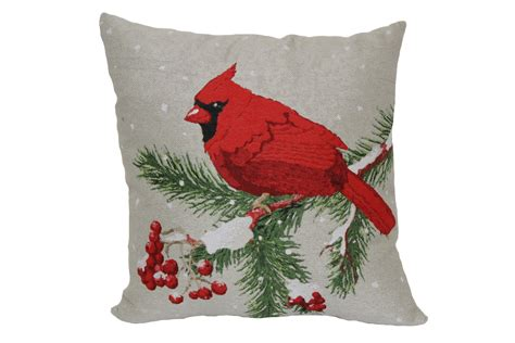 Cardinal Pillow by 18 Quot Square Cardinal Tapestry Pillow