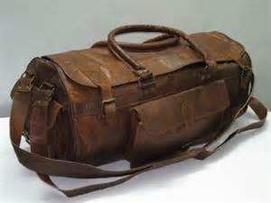 handmade 21 quot leather duffel sports utility travel