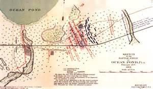 civil war battles in florida map olustee battle map florida ochp