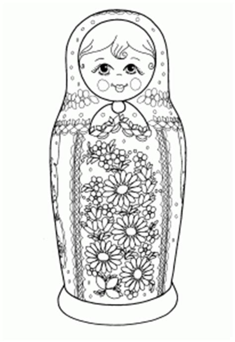 russian dolls coloring pages  adults